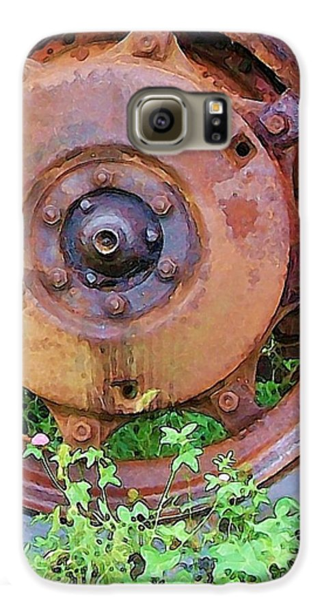 Rust Galaxy S6 Case featuring the photograph Heavy Metal by Debbi Granruth