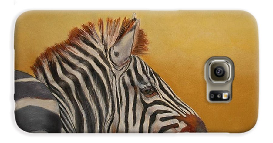 Africa Galaxy S6 Case featuring the painting Hello Africa by Ceci Watson