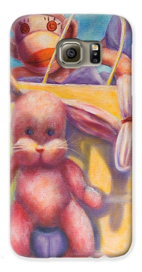 Children Galaxy S6 Case featuring the painting Hide And Seek by Shannon Grissom