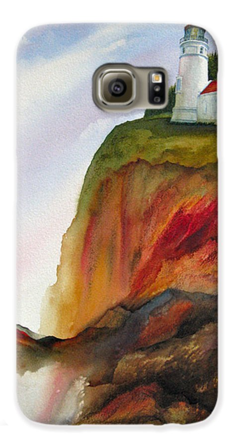 Coastal Galaxy S6 Case featuring the painting High Ground by Karen Stark