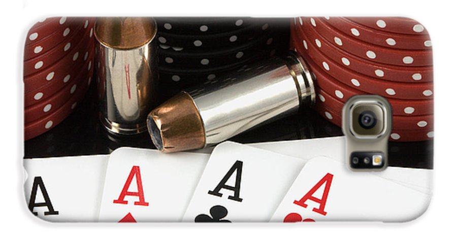 Aces Galaxy S6 Case featuring the photograph High Stakes Poker by Al Mueller