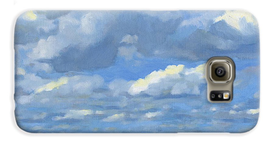 Landscape Galaxy S6 Case featuring the painting High Summer by Bruce Morrison