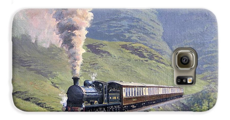 Steam Galaxy S6 Case featuring the painting Highland Steam by Richard Picton