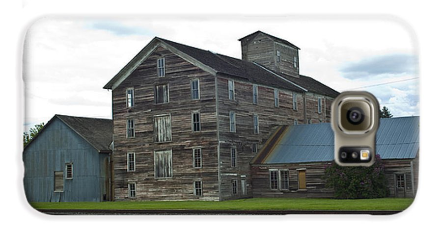 Historical Galaxy S6 Case featuring the photograph Historical Barron Wheat Flour Mill In Oakesdale Wa by Louise Magno