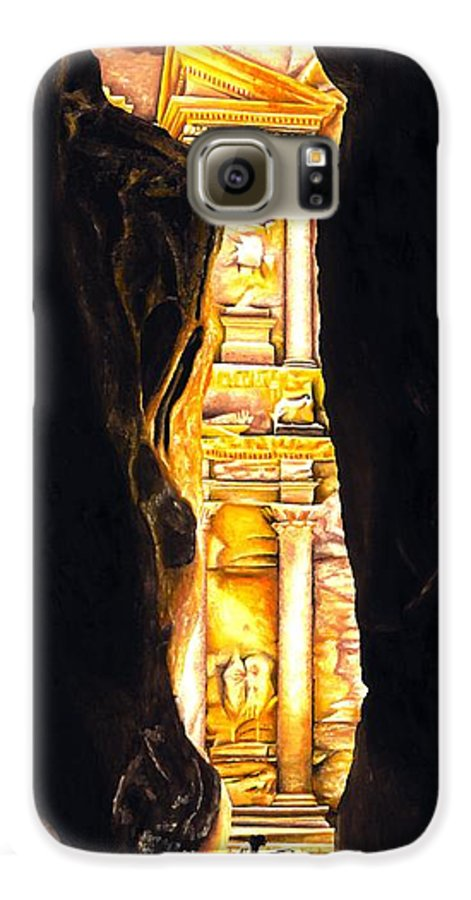 Bellydancer Galaxy S6 Case featuring the painting Homage To Petra by Richard Young