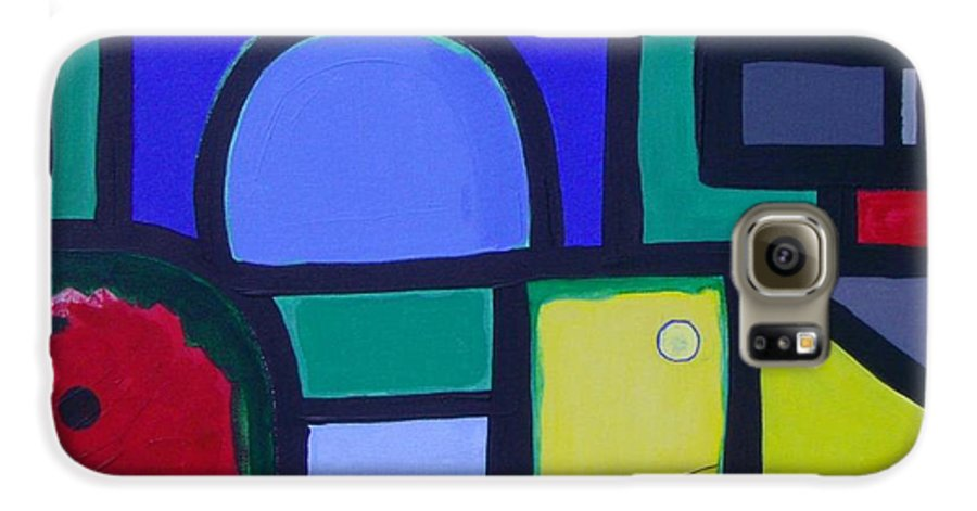 Street Galaxy S6 Case featuring the painting Hommage A Mark Rothko by Michael Puya