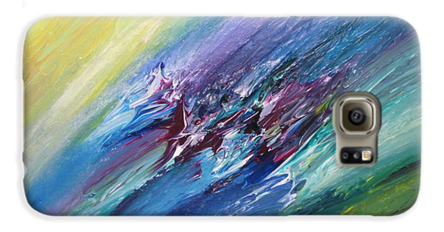Abstract Galaxy S6 Case featuring the painting Honeymoon Bliss - C by Brenda Basham Dothage
