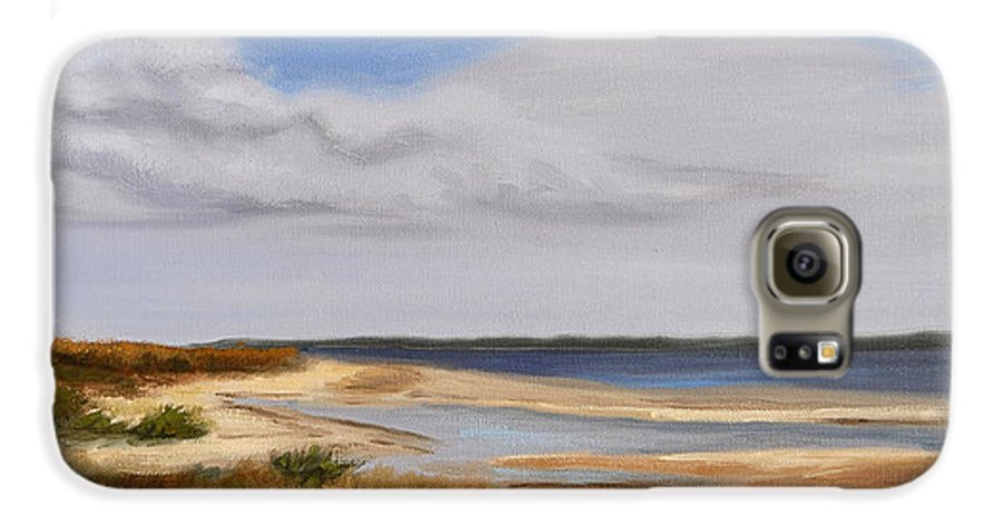 Landscape Galaxy S6 Case featuring the painting Honeymoon Island by Greg Neal
