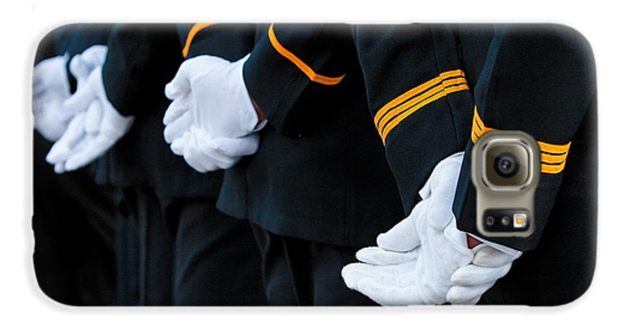 Military Galaxy S6 Case featuring the photograph Honor Guard by Lone Dakota Photography