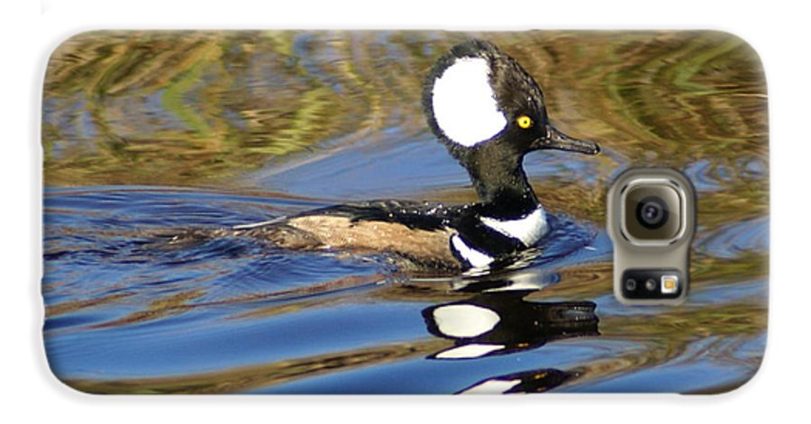 Duck Galaxy S6 Case featuring the photograph Hooded Mersanger by Debbie May