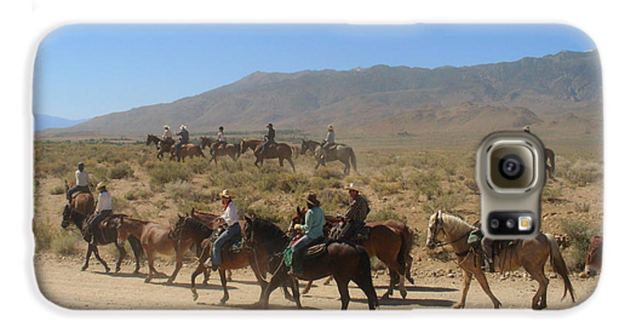 Horses Galaxy S6 Case featuring the photograph Horse Drive From June Lake To Bishop California by Christine Till