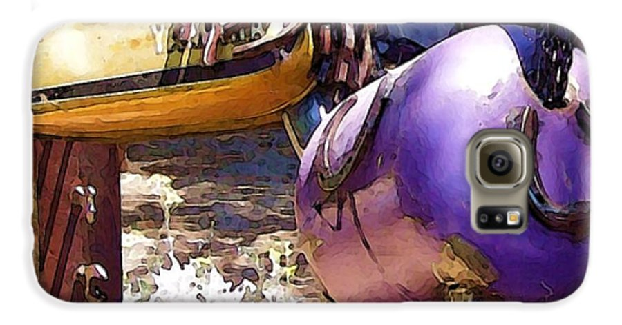 Sculpture Galaxy S6 Case featuring the photograph Horse With No Name by Debbi Granruth