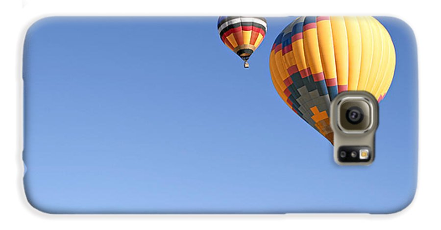 Balloons Galaxy S6 Case featuring the photograph Hot Air Balloon Ride A Special Adventure by Christine Till