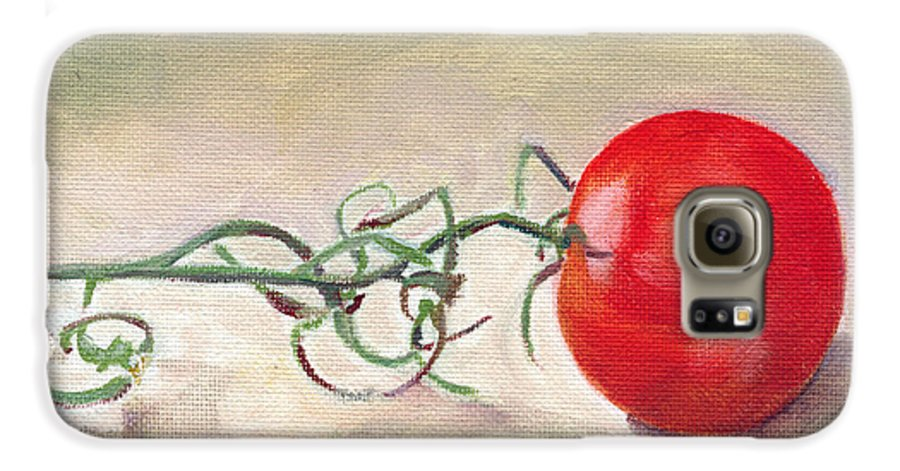Food Galaxy S6 Case featuring the painting Hot-house Tomato by Sarah Lynch