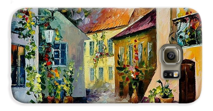 Landscape Galaxy S6 Case featuring the painting Hot Noon Original Oil Painting by Leonid Afremov
