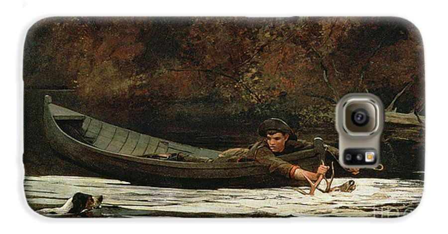 Hound And Hunter Galaxy S6 Case featuring the painting Hound And Hunter by Winslow Homer