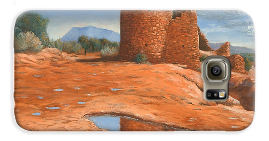 Anasazi Galaxy S6 Case featuring the painting Hovenweep Reflection by Jerry McElroy