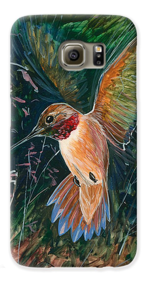 Hummingbird Galaxy S6 Case featuring the painting Hummingbird by Shari Erickson