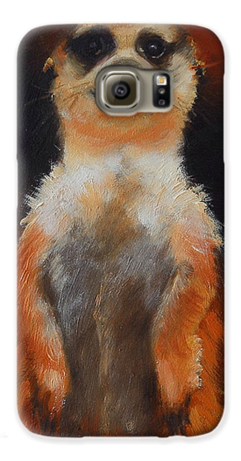 Oil Galaxy S6 Case featuring the painting I See You Too by Greg Neal