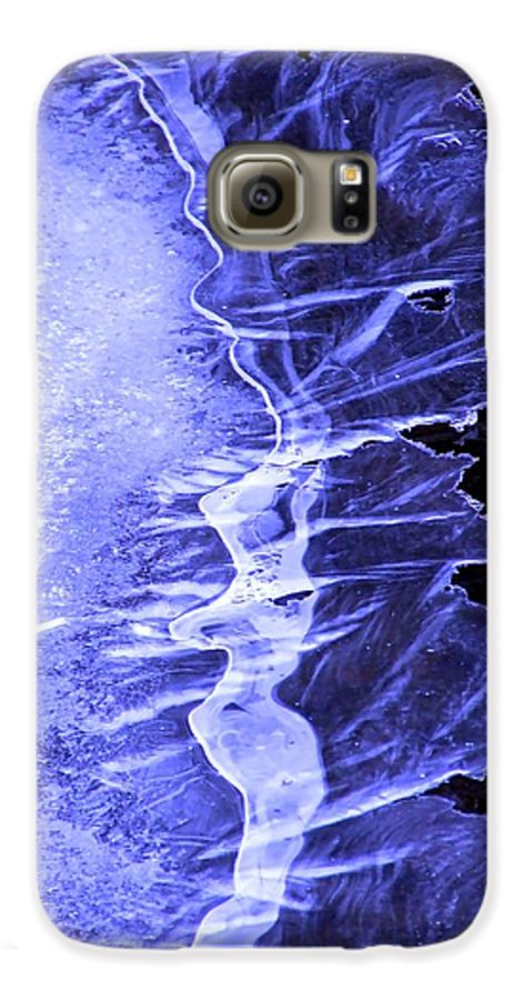 Ice Galaxy S6 Case featuring the photograph Blue Ice by Tiffany Vest