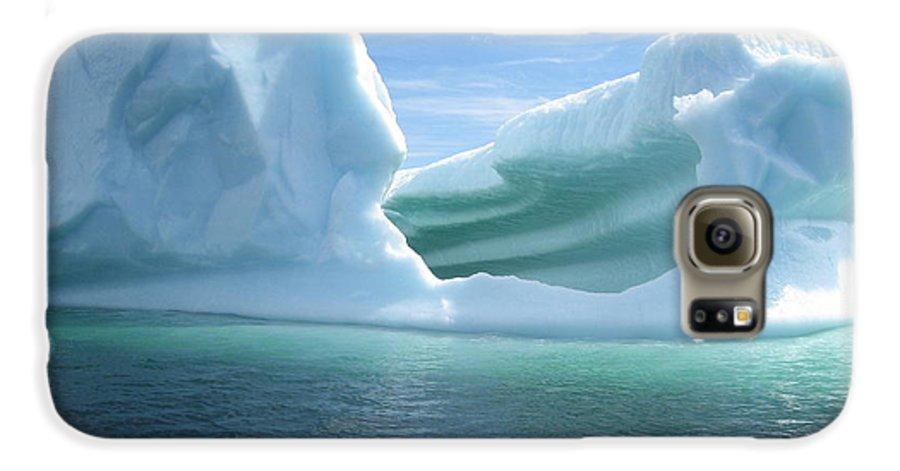 Photograph Iceberg Ocean Summer Newfoundland Galaxy S6 Case featuring the photograph Iceberg by Seon-Jeong Kim