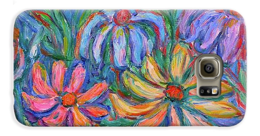 Flowers Galaxy S6 Case featuring the painting Imaginary Flowers by Kendall Kessler