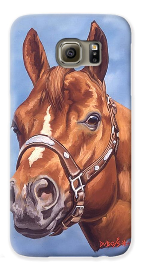 Quarter Horse Galaxy S6 Case featuring the painting Impressive by Howard Dubois