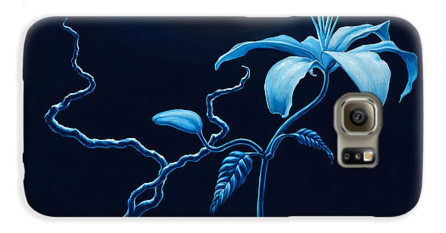 Lily Flower Galaxy S6 Case featuring the painting In Memorial by Jennifer McDuffie