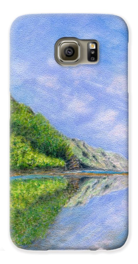 Rainbow Colors Pastel Galaxy S6 Case featuring the painting In Reflection by Kenneth Grzesik