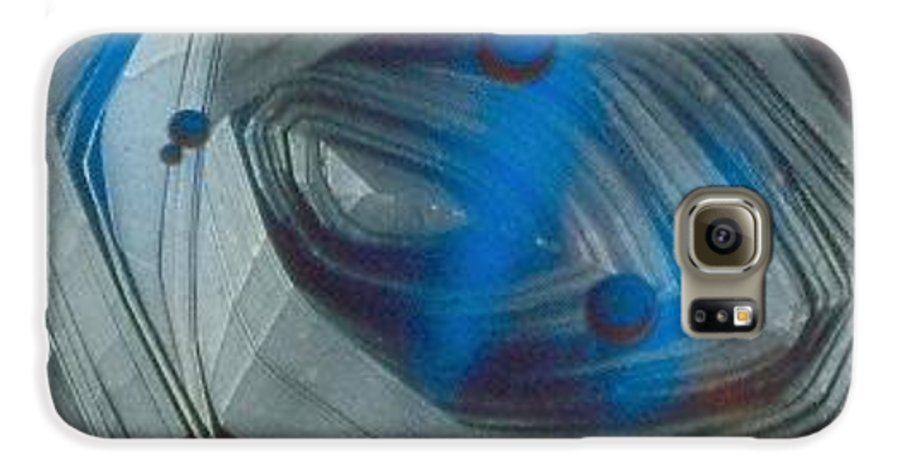 Abstract Galaxy S6 Case featuring the painting In The Eye Of The Tunnel by Rick Silas