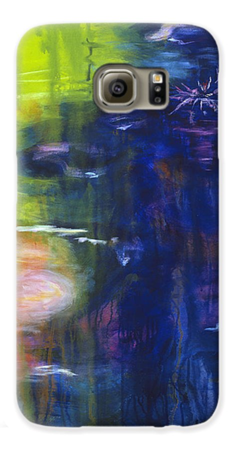 Abstract Galaxy S6 Case featuring the painting In The Flow by Tara Moorman