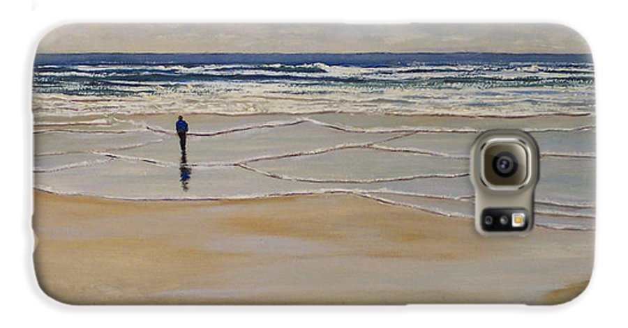 Beach Walk Galaxy S6 Case featuring the painting Incoming Tide by Frank Wilson