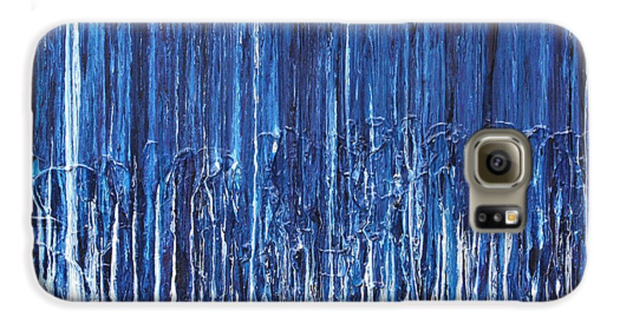 Fusionart Galaxy S6 Case featuring the painting Indigo Soul by Ralph White