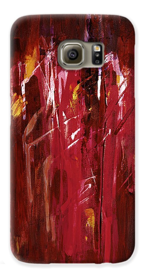 Abstract Galaxy S6 Case featuring the painting Initiation by Tara Moorman