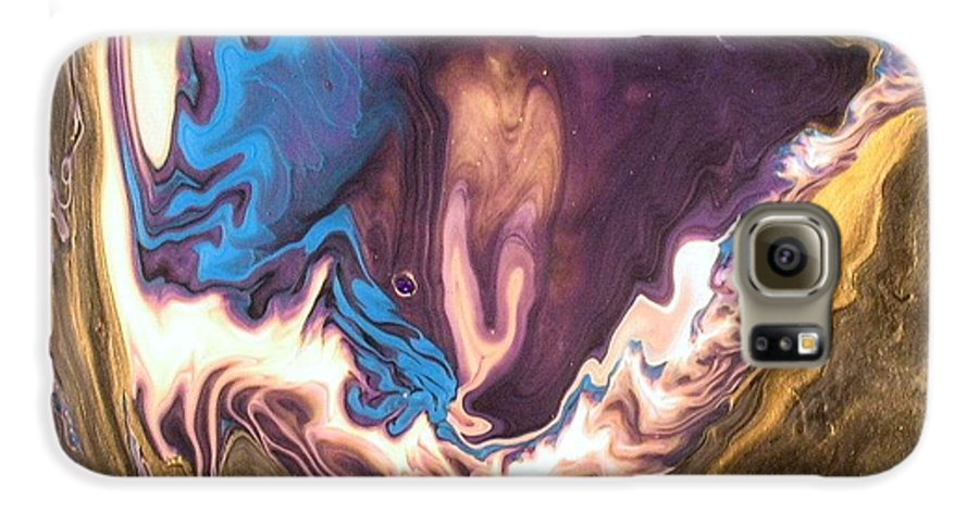 Abstract Galaxy S6 Case featuring the painting Inner Flame by Patrick Mock