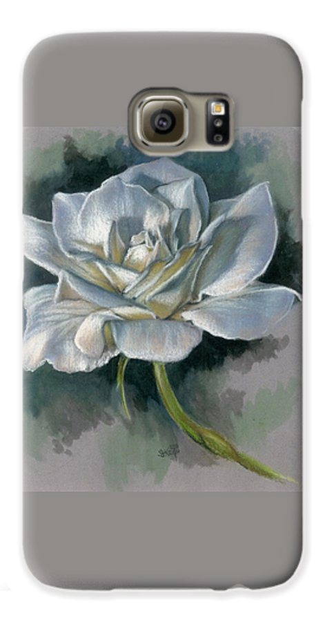 Rose Galaxy S6 Case featuring the mixed media Innocence by Barbara Keith