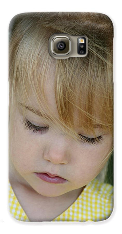 Angelic Galaxy S6 Case featuring the photograph Innocence II by Margie Wildblood