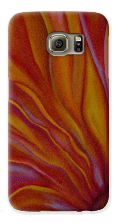 Floral Galaxy S6 Case featuring the painting Internal Floral by Sidra Myers