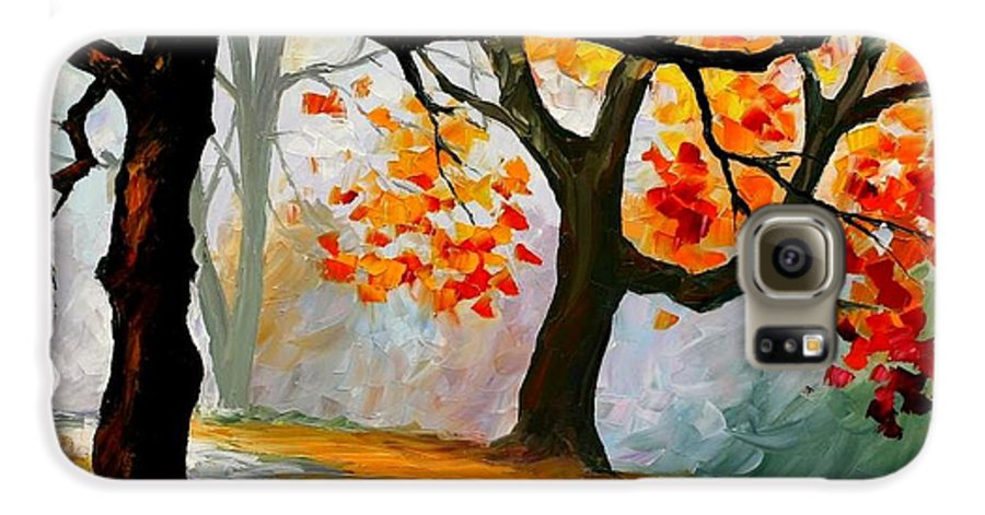 Landscape Galaxy S6 Case featuring the painting Interplacement by Leonid Afremov