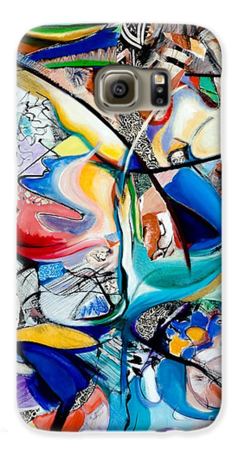 Abstract Galaxy S6 Case featuring the painting Intimate Glimpses - Journey Of Life by Kerryn Madsen-Pietsch