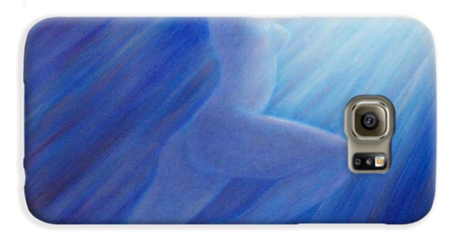 Spiritual Galaxy S6 Case featuring the painting Into The Light by Brian Commerford