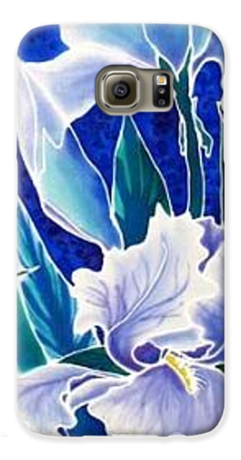 Iris Galaxy S6 Case featuring the painting Iris by Francine Dufour Jones