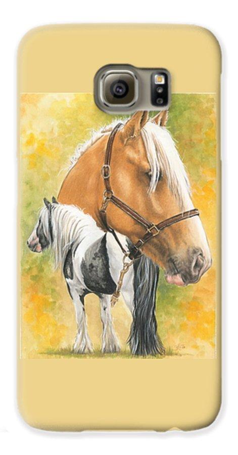 Draft Horse Galaxy S6 Case featuring the mixed media Irish Cob by Barbara Keith