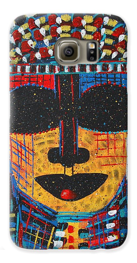 Abstract Galaxy S6 Case featuring the painting Isatoria by Natalie Holland