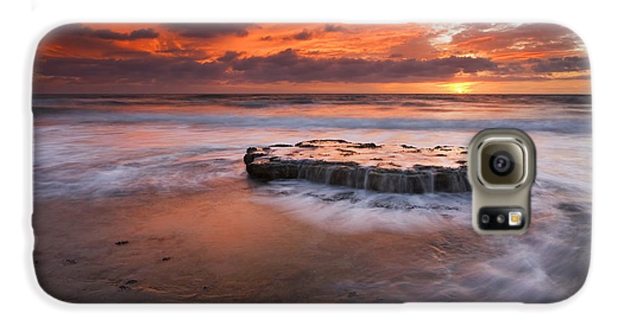 Island Galaxy S6 Case featuring the photograph Island In The Storm by Mike Dawson