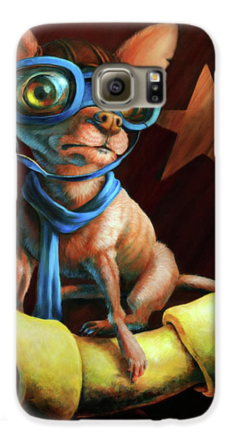 Chihuahua Galaxy S6 Case featuring the painting I've Got Mine by Vanessa Bates