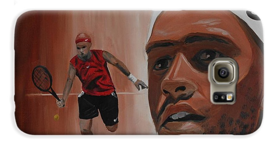 James Galaxy S6 Case featuring the painting James Blake by Quwatha Valentine