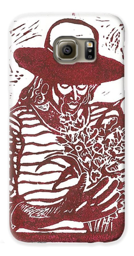 Jannie Galaxy S6 Case featuring the painting Jannie by Everett Spruill