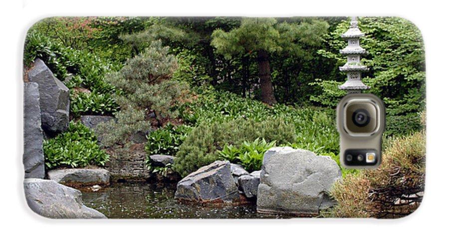 Japanese Garden Galaxy S6 Case featuring the photograph Japanese Garden Iv by Kathy Schumann