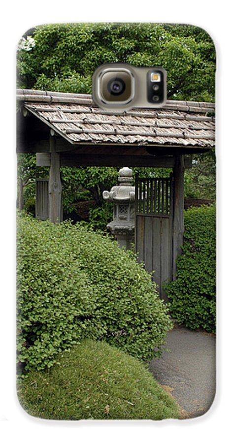 Japanese Garden Galaxy S6 Case featuring the photograph Japanese Garden by Kathy Schumann